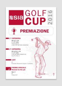 SIA locandina premi gara golf graphic briefing milano