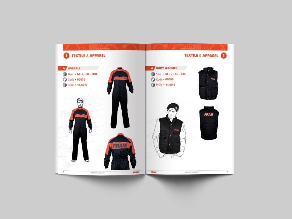 Catalogo merchandising Fram
