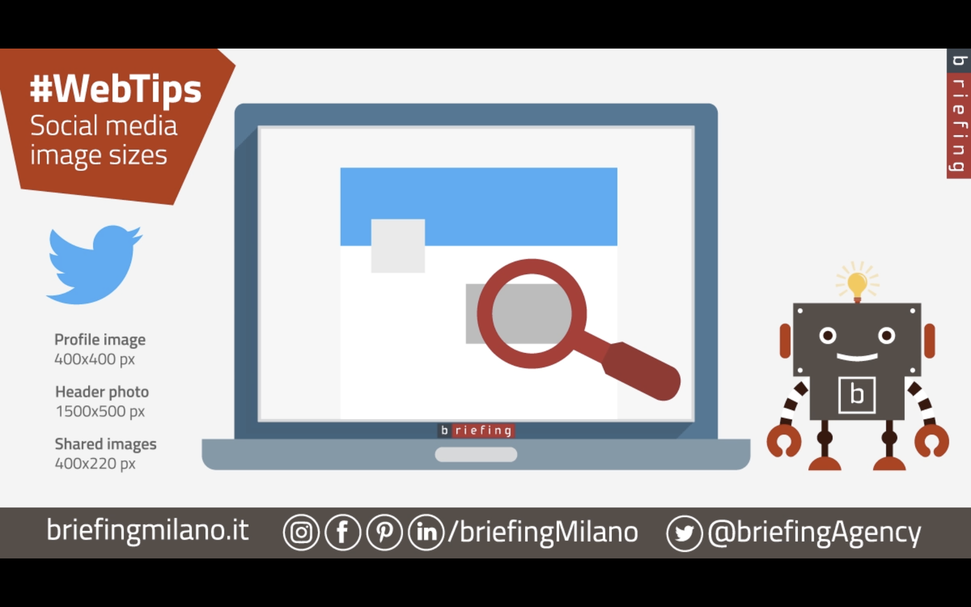 BriefingMilano social media sizes