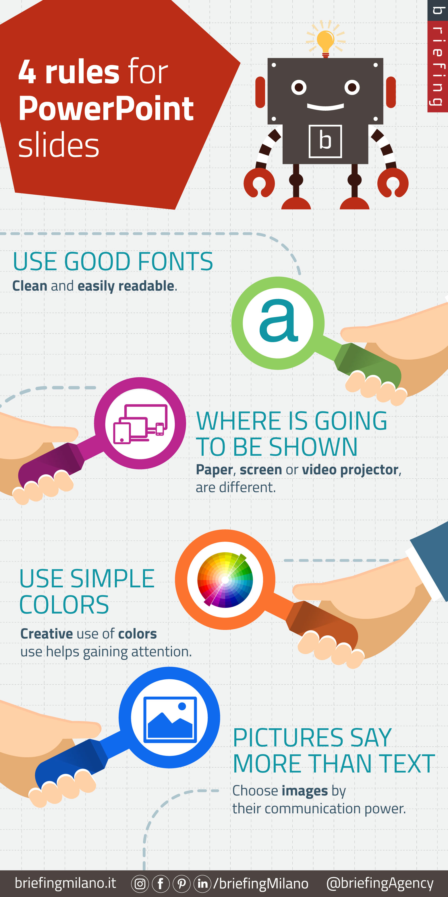 Four simple Powerpoint presentation rules | Web Tips n' Pills [Infographics]