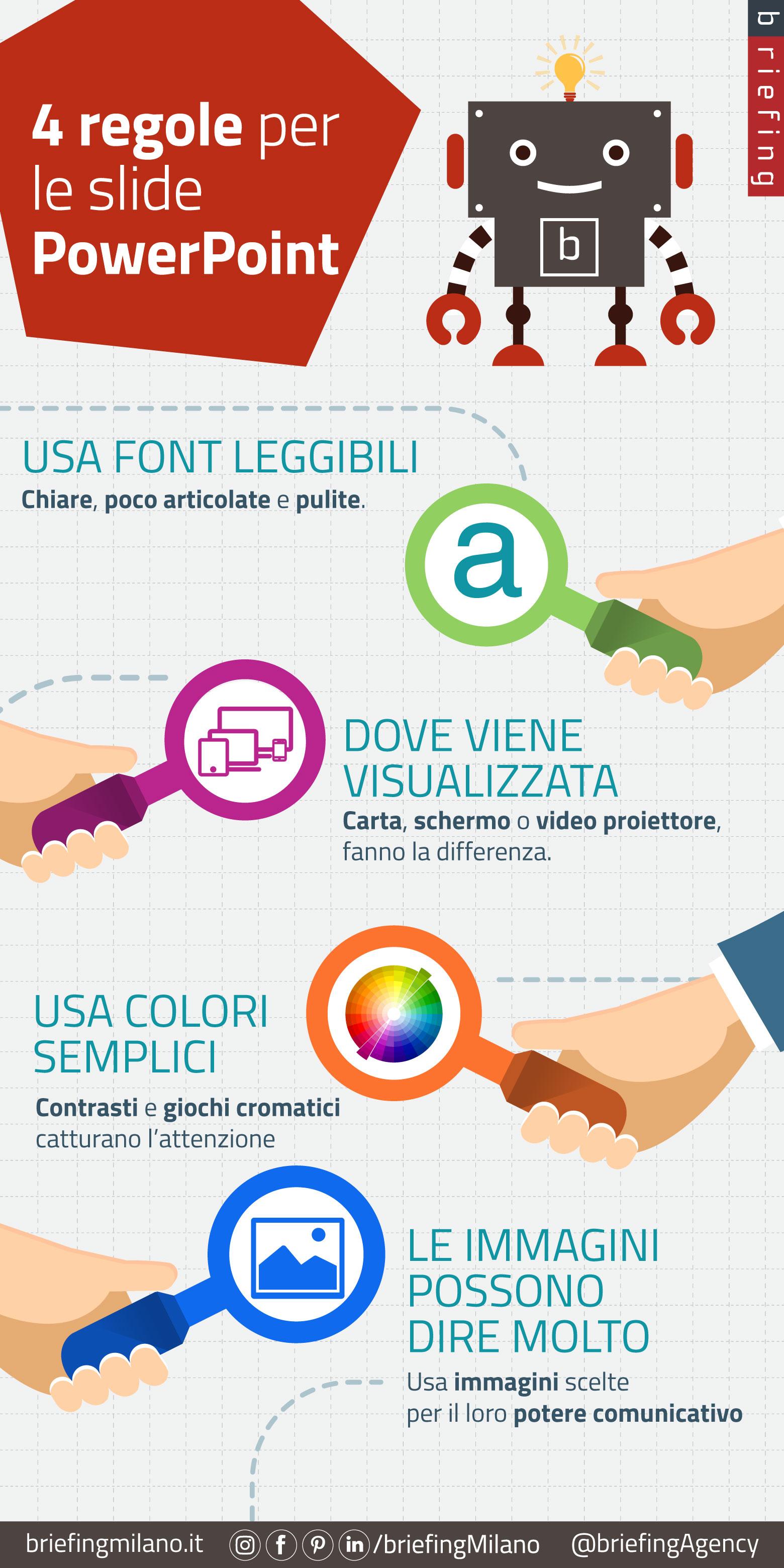Quattro semplici regole<br />per presentazioni efficaci con Powerpoint | Web Tips n' Pills [Infografica]